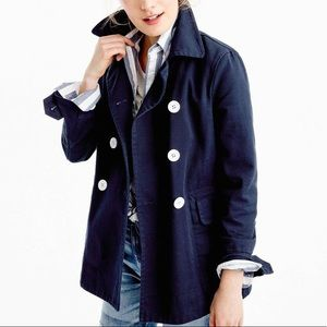 J Crew Peacoat Heavyweight Cotton Twill
